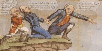 Hartford Convention cartoon - detail